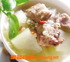 果蔬百科薏米冬瓜排骨汤